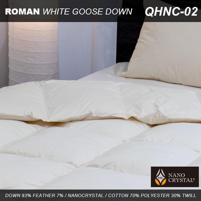 羽毛肌掛けふとん ローマンホワイトグース QHNC-2