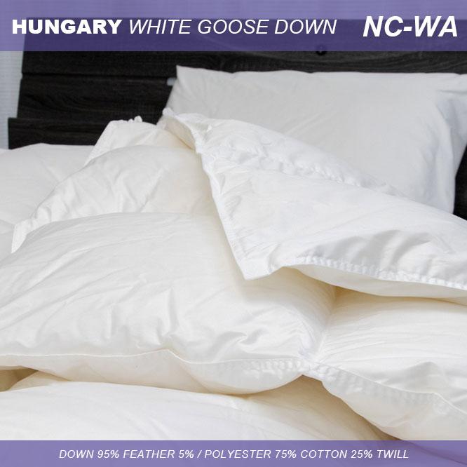 羽毛2枚合わせふとん ハンガリーホワイトグース nc-wa